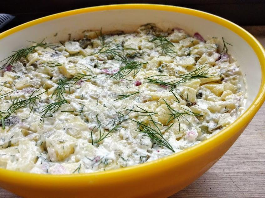 Kartoffelsalat Salatka Ziemniaczana Najlepsza Do Mies Z Grilla